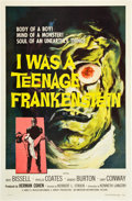 "Movie Posters:Horror, I Was a Teenage Frankenstein (American International, 1957). One Sheet (27"" X 41"").. ..."