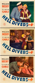 "Movie Posters:Adventure, Hell Divers (MGM, 1932). Lobby Cards (3) (11"" X 14"").. ... (Total:3 Items)"