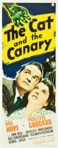 """Movie Posters:Horror, The Cat and the Canary (Paramount, 1939). Insert (14"""" X 36"""").. ..."""