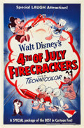 "Movie Posters:Animation, Walt Disney's 4th of July Firecrackers (RKO, 1953). One Sheet (27""X 41"").. ..."