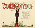 "Movie Posters:Comedy, The American Venus (Paramount, 1926). Title Lobby Card and Lobby Card (11"" X 14"").. ..."