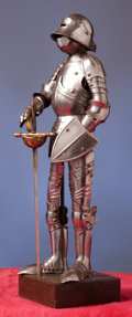 Militaria:Armor, Miniature Suit of Gothic German Armor....