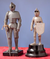 Lot of Two Decorative Tabletop Knights