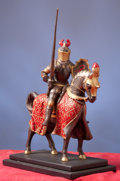 Militaria:Armor, Miniature Mounted Knight.. ...