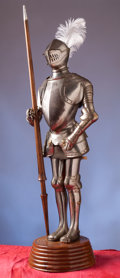 Militaria:Armor, Miniature Suit of Armor in the 16th Century German Style....