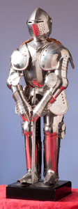 Militaria:Armor, Miniature Suit of Armor in the German 16th Century Style.. ...