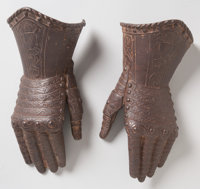 Pair of Decorative Iron Gauntlets