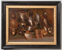 Oil Painting of Suits of Armor