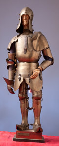 Militaria:Armor, Miniature Suit of 15th Century Milanese Armor with Figural InnerForm....
