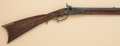 Long Guns:Muzzle loading, Scarce American Fullstock Percussion Plains Rifle byScholefield....