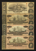 Confederate Notes:1863 Issues, 1863 and 1864 Notes.. ... (Total: 4 notes)
