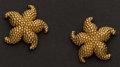 Estate Jewelry:Earrings, Unique Gold Earrings. ...