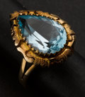 Estate Jewelry:Rings, Early Blue Topaz & Gold Ring. ...