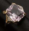 Estate Jewelry:Rings, Pink Topaz & Gold Ring. ...