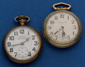 Timepieces:Pocket (post 1900), Two Hamilton 992 B and 4992 B For Parts Or Repair. ... (Total: 2Items)