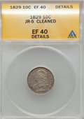 Bust Dimes: , 1829 10C Small 10C--Cleaned-- ANACS. XF40 Details. JR-5. NGCCensus: (5/227). PCGS Population (15/205). Mintage: 770,000. ...