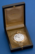 Timepieces:Pocket (post 1900), Howard 14k Gold 16 Size 17 Jewel With Box. ...