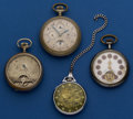 Timepieces:Pocket (post 1900), Four Unusual Swiss Watches Pocket Watches. ... (Total: 4 Items)