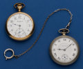 Timepieces:Pocket (post 1900), South Bend & Rockford 16 Size Pocket Watches Runners. ...(Total: 2 Items)