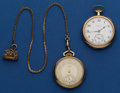 Timepieces:Pocket (post 1900), Hamilton 17 Jewel 910 & Waltham 21 Jewel 12 Size Pocket Watches Runners. ... (Total: 2 Items)