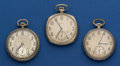 Timepieces:Pocket (post 1900), Three 12 Size Two Elgin's One Illinois Pocket Watches Runners. ... (Total: 3 Items)