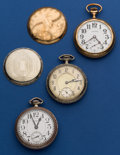 Timepieces:Pocket (post 1900), Three Pocket Watches 17 Jewel Illinois & South Bend & One 7Jewel Waltham Runners. ... (Total: 3 Items)