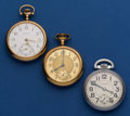 Timepieces:Pocket (post 1900), Three 16 Size Waltham's Pocket Watches Runners. ... (Total: 3Items)