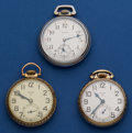 Timepieces:Pocket (post 1900), Three 16 Size Elgin Pocket Watches Runners. ... (Total: 3 Items)