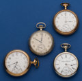 Timepieces:Pocket (post 1900), Four 16 Size Pocket Watches Runners. ... (Total: 4 Items)
