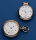 Timepieces:Pocket (post 1900), Two 18 Size Pocket Watch Rockford & Elgin Runners. ... (Total:2 Items)