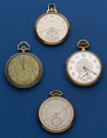Timepieces:Pocket (post 1900), Four - 12 Size Pocket Watches Runners. ... (Total: 4 Items)