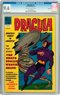 Dracula #3 File Copy (Dell, 1967) CGC NM+ 9.6 Off-white to white pages
