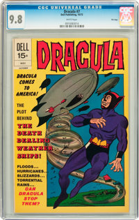 Dracula #7 File Copy (Dell, 1972) CGC NM/MT 9.8 White pages