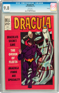 Dracula #8 File Copy (Dell, 1973) CGC NM/MT 9.8 White pages