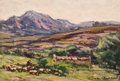 Fine Art - Painting, European:Modern  (1900 1949)  , ANDRE PREVOT-VALERI (French, 1890-1930). Paysage Pastoral (Normandie), circa 1930. Oil on masonite panel. 9-7/8 x 14 inc...