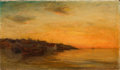 Fine Art - Painting, American:Antique  (Pre 1900), FRANK KNOX MORTON REHN (American, 1848-1914). Low Tide, RockyNeck, Massachusetts. Oil on canvas. 16 x 28 inches (40.6 x...
