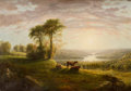 Paintings, Attributed to WILLIAM PEARSON (American, Mid 19th Century). Hillside Pasture, View in New Hampshire, circa 1859. Oil on ...