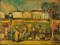 Paintings, JEAN VINAY (French, 1907-1978). Promenade. Oil on board. 19-1/4 x 25-1/2 inches (48.9 x 64.8 cm). Signed lower right: ...