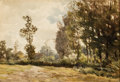 Works on Paper, JAN WILLEM VAN BORSELEN (Dutch, 1825-1892). Dutch Country Landscape. Watercolor on paper. 7-3/4 x 11 inches (19.7 x 27.9...