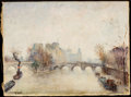 Fine Art - Painting, American:Contemporary   (1950 to present)  , JOHANNES SCHIEFER (American, 1896-1979) and LOUIS DALI (French, 1905-2001). Set of Two Parisian Scenes: La Seine - Paris ... (Total: 2 Items)