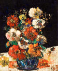 Paintings, HENRI D'ANTY (French, 1910-1998). Bouquet des Fleurs, circa 1960. Oil on canvas. 29 x 24 inches (73.7 x 61.0 cm). Signed...