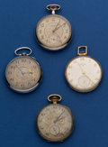 Timepieces:Pocket (post 1900), Four - American 12 Size Pocket Watches Runners. ... (Total: 4 Items)