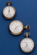 Timepieces:Pocket (post 1900), Three 12 Size Pocket Watches Runners. ... (Total: 3 Items)