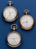Timepieces:Pocket (post 1900), Three - Elgin 18 Size Pocket Watches Runners. ... (Total: 3 Items)