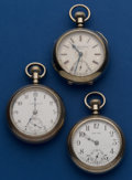 Timepieces:Pocket (post 1900), Three - 18 Size Pocket Watches Runners. ... (Total: 3 Items)