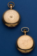 Timepieces:Pocket (post 1900), Two - American Pocket Watches 18 Sizes Runners. ... (Total: 2Items)