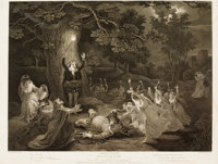 TWO FRAMED ENGLISH COPPER PLATE ENGRAVINGS AFTER JOHN BOYDELL'S WORKS OF WILLIAM SHAKESPEARE