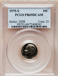 Proof Roosevelt Dimes: , 1975-S 10C PR69 Deep Cameo PCGS. PCGS Population (3586/28). NGCCensus: (38/0). Numismedia Wsl. Price for problem free NG...