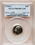 Proof Roosevelt Dimes: , 1976-S 10C PR69 Deep Cameo PCGS. PCGS Population (4399/77).Numismedia Wsl. Price for problem free NGC...