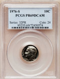 Proof Roosevelt Dimes: , 1976-S 10C PR69 Deep Cameo PCGS. PCGS Population (4399/77).Numismedia Wsl. Price for problem free NGC/...